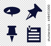 tack icons set. set of 4 tack... | Shutterstock .eps vector #648451000