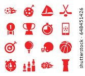 competition icons set. set of... | Shutterstock .eps vector #648451426