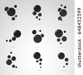 bubble icon set isolated on... | Shutterstock . vector #648452599