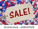 sale text with patriotic usa...   Shutterstock . vector #648453568