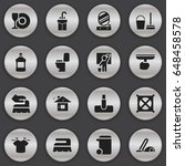 set of 16 editable hygiene... | Shutterstock .eps vector #648458578