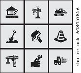 set of 9 editable construction... | Shutterstock .eps vector #648459856