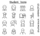 student   education icon set in ... | Shutterstock .eps vector #648462910