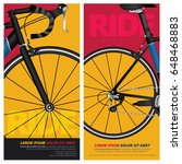 bicycle poster vector... | Shutterstock .eps vector #648468883
