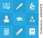 set of 9 education icons set... | Shutterstock .eps vector #648469978
