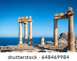 Columns Of The Ancient Lindos ...