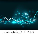 neon lightning vector... | Shutterstock .eps vector #648471079