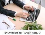 close up of business woman... | Shutterstock . vector #648478870