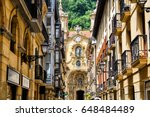 san sebastian old town views | Shutterstock . vector #648484489