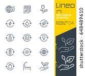 lineo editable stroke   ecology ... | Shutterstock .eps vector #648489610