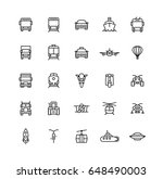 transport outline icons | Shutterstock .eps vector #648490003
