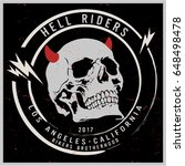 vintage biker graphics and... | Shutterstock .eps vector #648498478