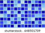 abstract blue mosaic geometric... | Shutterstock . vector #648501709