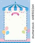 cute carnival template...   Shutterstock .eps vector #648502264