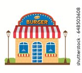 vector graphic of the burger...   Shutterstock .eps vector #648503608