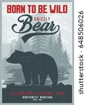 vintage vector of wilderness... | Shutterstock .eps vector #648506026