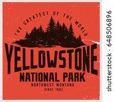 vintage vector of wilderness... | Shutterstock .eps vector #648506896