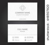 business card  vector | Shutterstock .eps vector #648507820