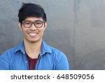 asian man portrait smiling... | Shutterstock . vector #648509056