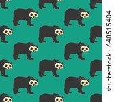 bear pattern on the green...   Shutterstock .eps vector #648515404