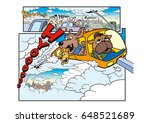 dog's character and amusement... | Shutterstock . vector #648521689