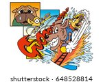 dog's character and amusement... | Shutterstock . vector #648528814