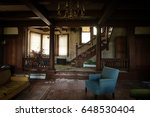 Small photo of HIGHMOUNT, NEW YORK - APRIL 28, 2017: Living room of mansion built in 1904, originally owned by Julie Marlowe. Converted to hotel in later years. Editorial use only.
