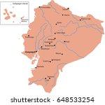 map ecuador   Shutterstock .eps vector #648533254