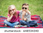 brother and sister | Shutterstock . vector #648534340