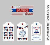 independence day hand drawn... | Shutterstock .eps vector #648534709