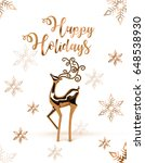 an illustration of merry... | Shutterstock . vector #648538930