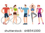 exercises flat design... | Shutterstock .eps vector #648541000