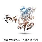 subh nag panchami  ... | Shutterstock .eps vector #648545494