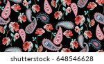 seamless floral pattern in... | Shutterstock .eps vector #648546628