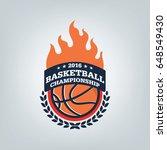 basketball sport logo template... | Shutterstock .eps vector #648549430