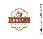 farmers market logo template... | Shutterstock .eps vector #648550234