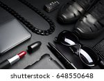 woman accessories in business... | Shutterstock . vector #648550648