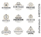 luxury monograms logos... | Shutterstock .eps vector #648552256
