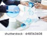 technical support. customer... | Shutterstock . vector #648563608