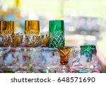 old  colorful glasses are on... | Shutterstock . vector #648571690