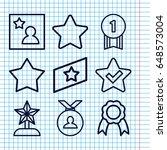 set of 9 best outline icons... | Shutterstock .eps vector #648573004