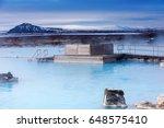 view of the myvatn naturebaths  ... | Shutterstock . vector #648575410