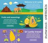 sri lanka travel banner...   Shutterstock .eps vector #648582826