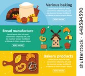 bakery products banner... | Shutterstock .eps vector #648584590