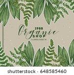 wild leaves design template.... | Shutterstock .eps vector #648585460