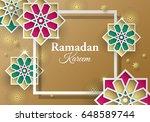 islamic geometrical paper... | Shutterstock .eps vector #648589744