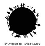 world black icon vector | Shutterstock .eps vector #648592399