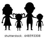 dolls family together black... | Shutterstock .eps vector #648593308