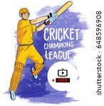 illustration of batsman and... | Shutterstock .eps vector #648596908