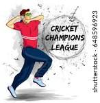illustration of batsman and... | Shutterstock .eps vector #648596923